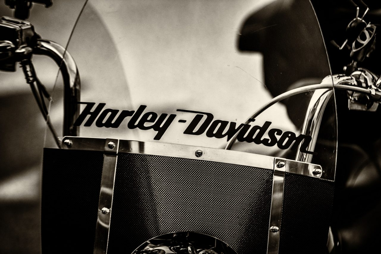 Guidon et bulle d'une harley davidson